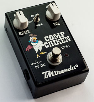 pedal compressor sustainer guitarra