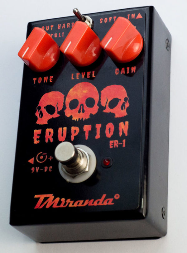 Eruption - Apedal de distorção guitarra hard rock marshall tone like