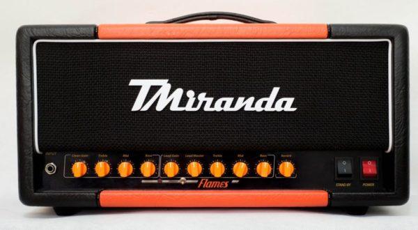 Flames Head - orange rockerverb