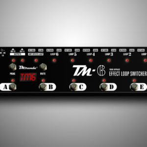 TM-6 Effects loop switcher com midi - Amplificadores valvulados  - TMiranda