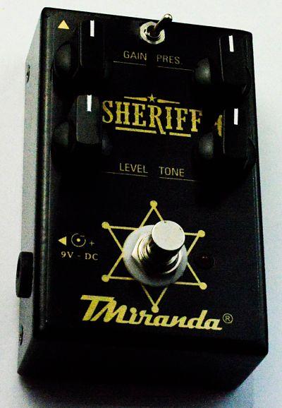 Sheriff TMiranda- pedal de distorção- Marshall in a box - Amplificadores valvulados  - TMiranda 1